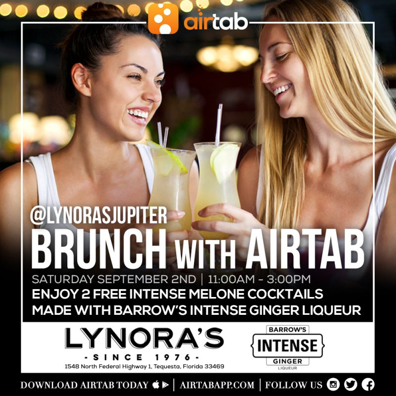 Brunch with Airtab at Lynora's Jupiter! Plus benefit Houston Relief Effort